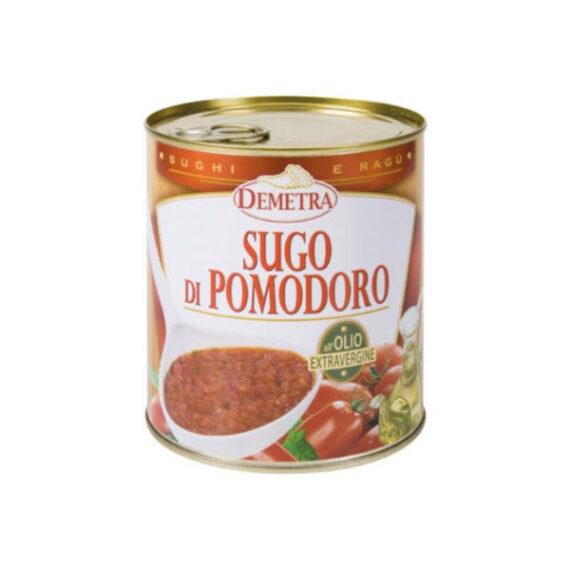 Sugo Pomodoro olio/ExtraVergine gr.820 Latta Demetra